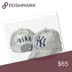 Bling NY Yankees Hat Super Cute In Brand New Condition See Matching Top In Closet No Holds or Trades Def a rare gem PINK Victoria's Secret Accessories Hats