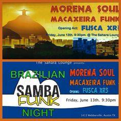 Macaxeira Funk's first show was a blast!  Brazilian samba funk night - June 13th at the Sahara lounge
