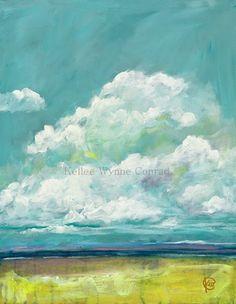 """Kellee Wynne Conrad Fine Art: Contemporary Landscapes """"Summer Getaway 1"""" 18x14 acrylic"""