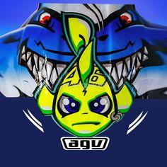 Shark Helmets, Agv Helmets, Valentino Rossi Helmet, Valentino Rossi 46, Shark Logo, Bike Stickers, Biker Boys, Vr46, Ducati