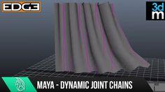 Maya Tutorial - Creating Dynamic Hair Driven Joint Chains HD by 3dmotive