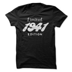 1941 Limited Edition B-day 75th Birthday T-Shirt Tee by TeeSpaceX
