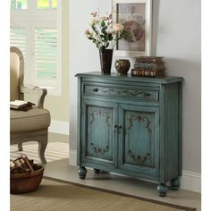 Color inspiration, muted teal/dark wax/stencil, found on overstock