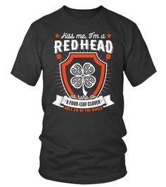 Redhead Kiss me I'm A redhead Irish As Rare As A Four Leaf Clover Only 2% Of The World (Round neck T-Shirt Unisex - Black) redhead highlights, redhead ombre, redhead hair #redheadmodel #redheadmakeup #redheadproblems, christmas decorations, thanksgiving games for family fun, diy christmas decorations