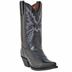 """Dan Post Womens Cecilia All Over Black Mignon Leather  11""""  Boots DP3547"""