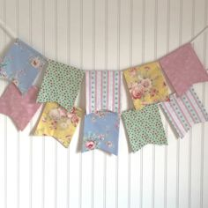 Shabby chic banner in blue, mint, yellow, and pink. Nursery decor. Baby shower banner. Tea party. Spring banner. Photo prop. by ThePartyOrchard on Etsy https://www.etsy.com/listing/264515862/shabby-chic-banner-in-blue-mint-yellow