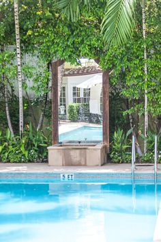 A gorgeous spot for a refreshing dip at the Brazilian Court Hotel