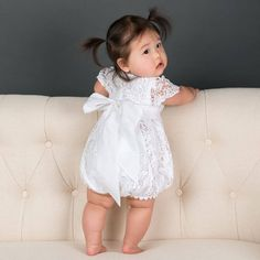 Lace Outfit for girls - Grace White Bubble Baptism romper – Baby Beau and Belle Christening Outfit Girl, Baby Girl Baptism, Baby Girls, Jumpsuits For Girls, Girls Rompers, Baby Rompers, Baby Girl Romper, Baby Girl Dresses, Baby Outfits