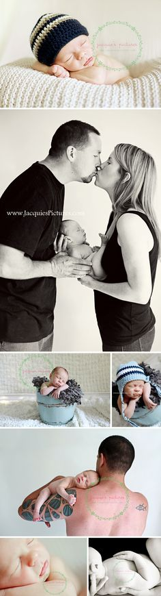 really like the the couple kissing while holding the baby