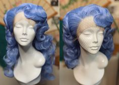 #neciashairstyling #bluehair #bluefantasy #hairdresser #bluewig #wig #wigs #wigstyling Black Girl Short Hairstyles, Cute Girls Hairstyles, Retro Hairstyles, Wig Hairstyles, School Hairstyles, Wedding Hairstyles, Updo Hairstyle, Everyday Hairstyles, Medium Long Hair