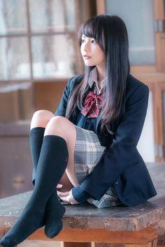 Pin by towa on ファッション(足もと in 2019 School Girl Japan, Japanese School Uniform Girl, School Girl Outfit, School Uniform Girls, Girls Uniforms, Japan Girl, Girl Outfits, Asian Cute, Cute Asian Girls