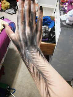 Black Swan Hand by itashleys-makeup on deviantART