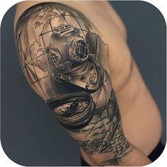 Cool B&G Half Sleeve made by @gabrielink_art #tattoodo