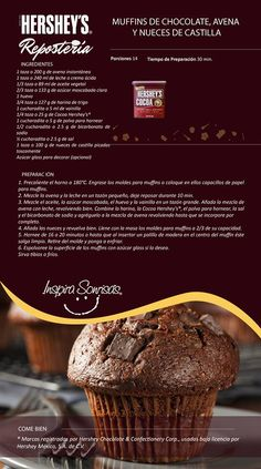 Una deliciosa receta preparada con nuestras Cocoa Hershey's®. #Hersheys…