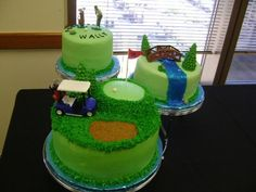 Golf multi level cake