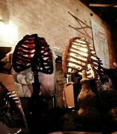 Rib Cage Accent Lamp - Lighting Decor - Shadow Casting by Gloom Matter on Etsy, $94.73
