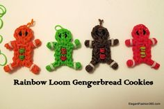 Find out how to: http://elegantfashion360.com/make-gingerbread-boy-cookies-rainbow-loom/  Gingerbread Boy Cookies on Rainbow Loom by ElegantFashion360.com   ♥ Like us on Facebook: http://on.fb.me/1bz2WYi ♥ Tutorials on yourTube channel: https://www.youtube.com/user/ElegantFashion360   ♥ Check out my web site: http://elegantfashion360.com Creativity is an Attitude!!! Good Luck!