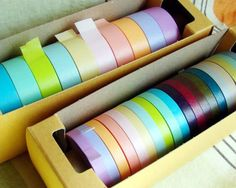 I am in love with Japanese washi paper tape - it can be used for so many things and it comes in too many colors to count. Cinta Washi Tape, Washi Tapes, Colored Masking Tape, Mt Tape, Bird Template, Best Online Stores, Origami Bird, Paper Supplies, Paper Tape