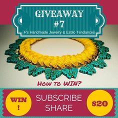 Giveaway! Win a super-cool necklace signed F's Handmade Jewelry  #EstiloTendaces