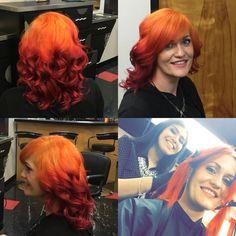 Sunset!!!! Hair FX Tulsa Oklahoma. Red and Orange Hair.