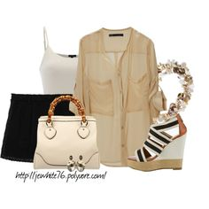 Neutral Shells, created by jewhite76 on Polyvore