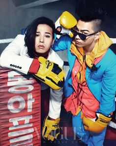 BIGBANG G-Dragon and Taeyang - Vogue Magazine March Issue '12