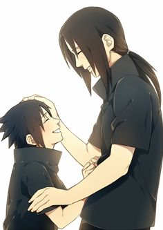 Itachi and Sasuke. The Uchiha brothers. OMG so cute! My heart just melted into into soft pile...