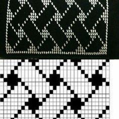Wire breaking bag and pattern scheme Fair Isle Knitting Patterns, Knitting Charts, Knitting Stitches, Crochet Patterns, Crochet Blocks, Granny Square Crochet Pattern, Crochet Diagram, Crochet Wallet, Crochet Purses