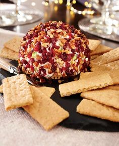 Holiday Cranberry-Pecan Cheese Ball