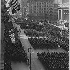 Overseas Troops Parade in Front of the NY Public Library After Coming Home, NYC. Coming Home, Troops, Paris Skyline, The Past, Public, Nyc, Explore, History, Photography