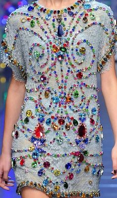 The Terrier and Lobster: Dolce & Gabbana Spring 2012 Rainbow Rhinestones