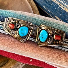 Turquoise Jewelry, Turquoise Bracelet, Native American Jewelry, Vintage Signs, Navajo, Watch Bands, Vintage Jewelry, Sterling Silver, Apple Watch