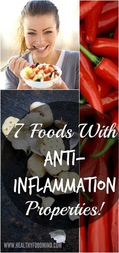 7 Foods With Anti-Inflammatory Properties- Anti-inflammatory foods may have the capability to reduce inflammation when they're eaten as part of an overall health diet...