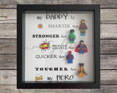 Framed Superhero Lego Gift for Dad Mom Brother Sister Wife Husband Grandma Grandpa Boyfriend Girlfriend Daddy Father's Day Birthday Hero Diy Birthday Gifts For Mom, Diy Father's Day Gifts, Diy Gifts For Kids, Father's Day Diy, Birthday Crafts, Birthday Ideas, Man Gifts, Birthday Nails, Superhero Gifts