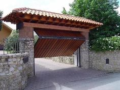 spanish driveway entrance marbella at DuckDuckGo Front Gate Design, Main Gate Design, House Gate Design, Door Gate Design, Entrance Gates, House Entrance, Driveway Entrance, Rustic Outdoor Spaces, Hacienda Style