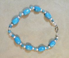Chunky-bead-turquoise-stone-necklace-silver