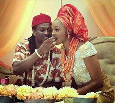 Groom feeding bride (nigerian traditional Igbo wedding)
