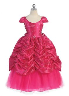 Fushia Gorgeous Princess Girl Dress