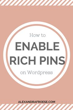 A guide to enabling rich pins on Wordpress Social Media Tips, Social Media Marketing, Marketing Strategies, Business Tips, Online Business, Business Website, Pinterest Board Names, Pinterest Profile, Pinterest For Business