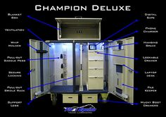 Flexi Equine Tack manufacture high quality tack lockers for equine sport. Secure your tack with style. Mobile solutions customised to your choice of style and finish. Horse Tack Rooms, Horse Stables, Tack Room Organization, Tack Locker, Tack Box, Tack Trunk, Armoire, Tacker, Horse Accessories