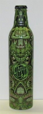 Mountain Dew // Aluminum Bottle // Green Label Art