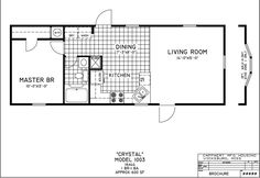 One Bedroom Mobile Home Floor Plans   Plans IM House