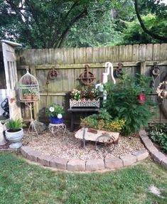 Garden Junk, Garden Yard Ideas, Garden Fencing, Garden Crafts, Garden Projects, Backyard Ideas, Garden Art, Modern Backyard, Easy Garden
