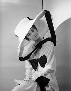 Audrey Hepburn photographed by Cecil Beaton in 1963. Beaton, creative genius that he was, designed the costume as well as the famous Ascot scene (with its marvelously limited palette) of My Fair Lady.