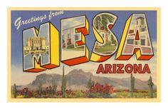 Greetings from Mesa, Arizona Premium Poster