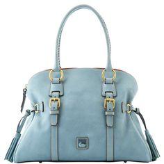Dooney & Bourke Domed Buckle Satchel in Dusty Blue #handbags