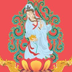 https://flic.kr/p/oppKwL | Kwan Yin Goddess #illustration  #commisioned #artwork featuring a mix in between Chinesse Buddhist culture and #thai #pattern elements.  The work will later be hand #embroidered in different #garments & other #clothing elements.   #yoga #buddhism #laithai