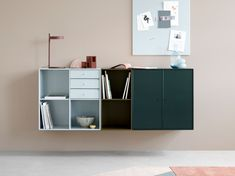 Montana Sideboards are available with legs, castors, suspension rails or plinth. Choose the sideboard in all Montana's 42 colours. Shelf Inspiration, Furniture Inspiration, Interior Inspiration, Side Board, Commode Design, Montana Furniture, Scandinavia Design, Montana Homes, Buffet Cabinet