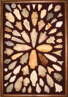 Arrowhead display, foam mounting   arrowheads   Pinterest   Display