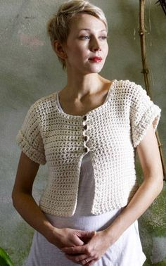 Crochet Jacket | pure and simply lovely. Need translation to English by google but got instruction. (Notvita Oy crochet brand)
